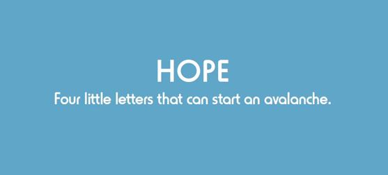 Hope four little letters