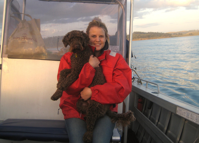 Maddie & her dog