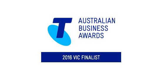 We're a Victorian finalist in 2016 Telstra Business Awards!