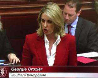 Georgie Crozier parliamentary speech Nov 21 2016