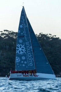 Warwick Sherman's incredible Snowdome branded yacht named 'Snowdome Occasional Coarse Language Too'.